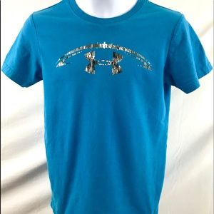 Under Armour Boys Youth Sm. Blue graphic t shirt
